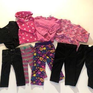 24 Month Baby Girl Comfy Cozy Winter Bundle Pajama